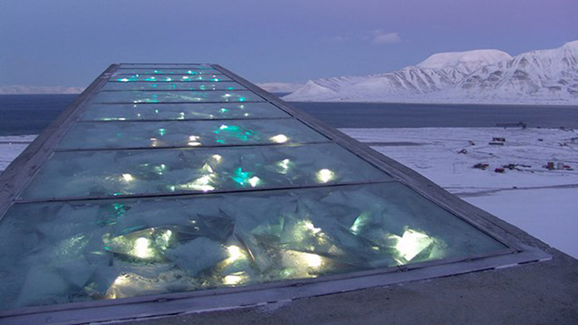 Dyveke Sanne, Perpetual Repercussion, 2008. Photo by Mari Tefre/Svalbard Globale frøhvelv. Image courtesy of the Norwegian Ministry of Agriculture and Food.